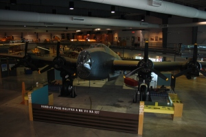 The restored WWII Halifax Bomber